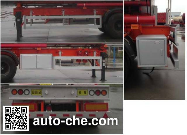 Shenying YG9400GRY flammable liquid tank trailer