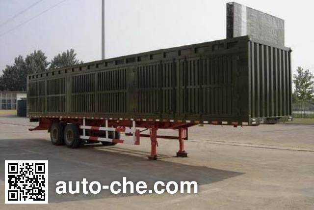 Guangke YGK9320XXY box body van trailer