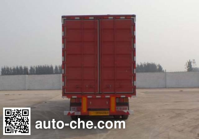 Huajing YJH9401XXYE box body van trailer