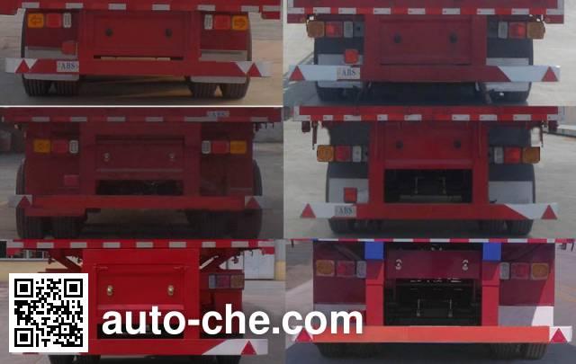 Huajing YJH9404XXY box body van trailer
