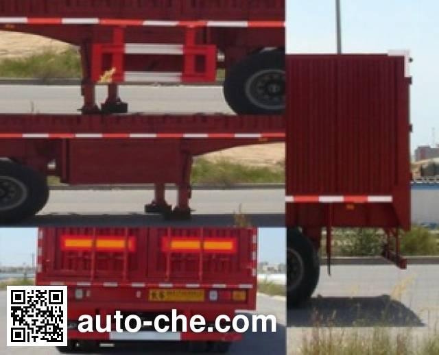 Shacman YLD9280XXY box body van trailer
