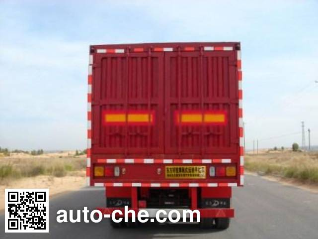 Shacman YLD9400XXY box body van trailer