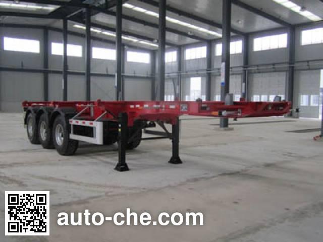 Yongqiang YQ9400TWY dangerous goods tank container skeletal trailer