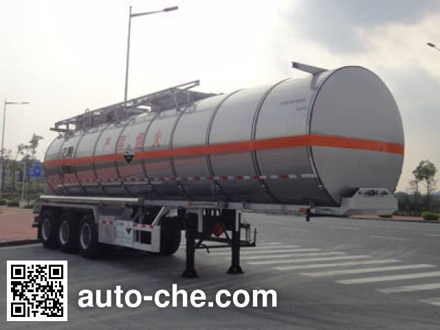 Yongqiang YQ9404GHYB chemical liquid tank trailer