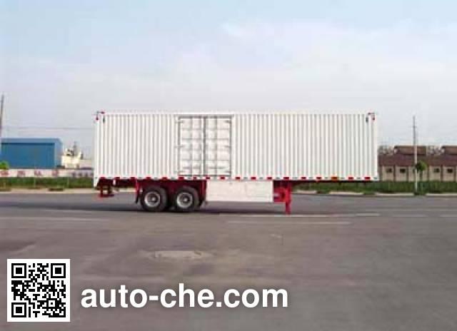 Huajun ZCZ9333XXY box body van trailer