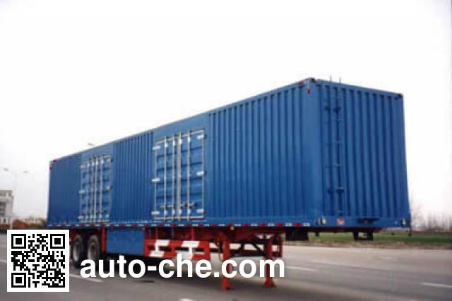 Huajun ZCZ9258XXY box body van trailer