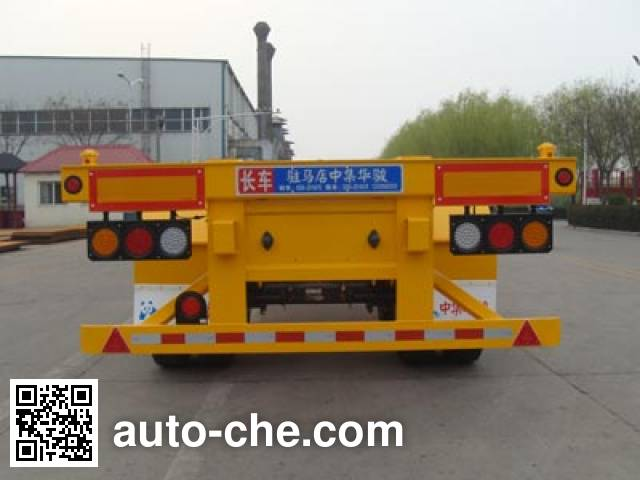 Huajun ZCZ9350TJZHJE container transport trailer