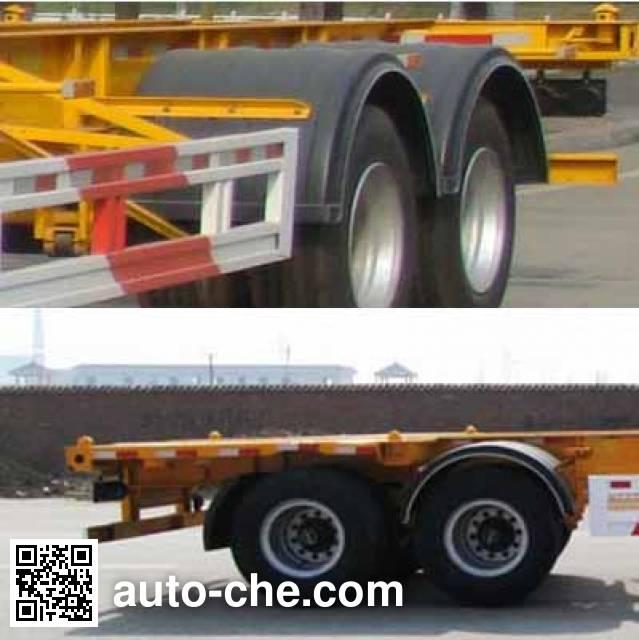 Huajun ZCZ9350TWYHJE dangerous goods tank container skeletal trailer