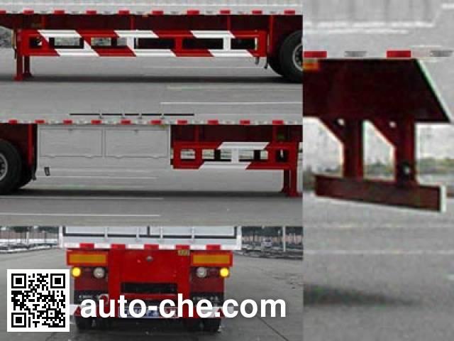 Huajun ZCZ9360XXYL box body van trailer