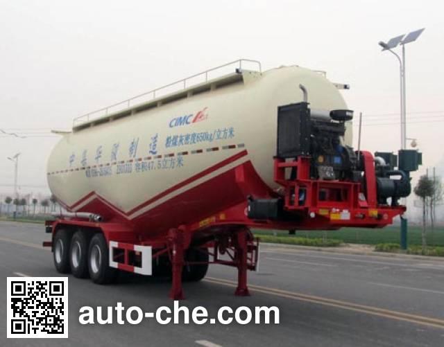 华骏牌ZCZ9400GFLHJD低密度粉粒物料运输半挂车