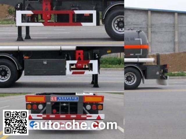 Huajun ZCZ9400GFWHJF corrosive materials transport tank trailer