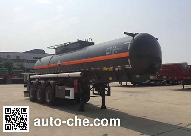 Huajun ZCZ9400GFWHJG corrosive materials transport tank trailer