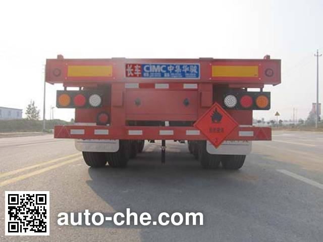 Huajun ZCZ9400TWYBYG dangerous goods tank container skeletal trailer
