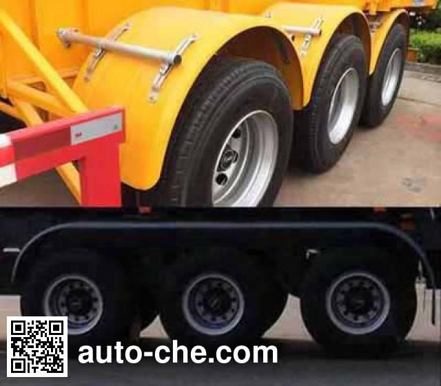 Huajun ZCZ9400TWYHJF dangerous goods tank container skeletal trailer