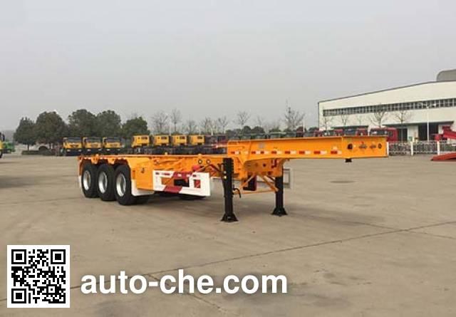 Huajun ZCZ9400TWYHJG dangerous goods tank container skeletal trailer