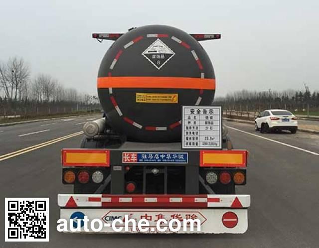 华骏牌ZCZ9401GFWHJG腐蚀性物品罐式运输半挂车