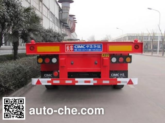 华骏牌ZCZ9401TJZHJC集装箱运输半挂车