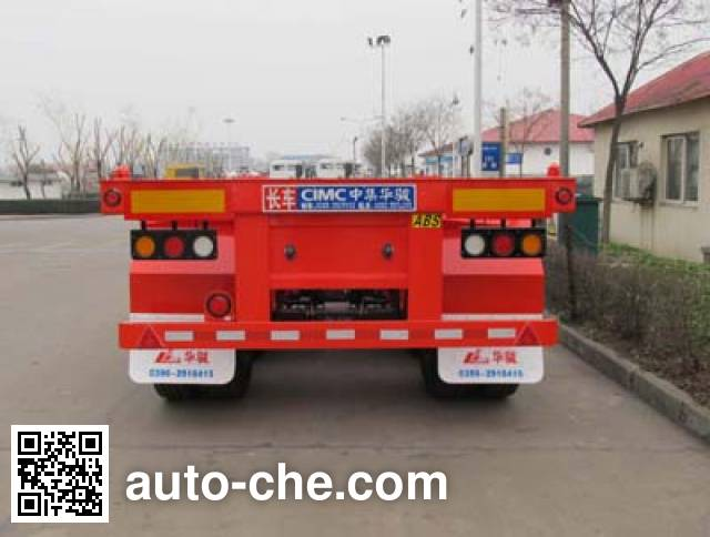 华骏牌ZCZ9400TJZHJE集装箱运输半挂车