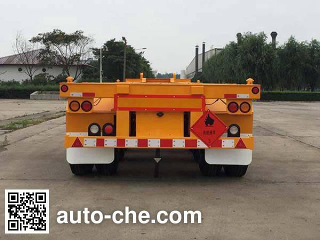 Huajun ZCZ9402TWYHJG dangerous goods tank container skeletal trailer