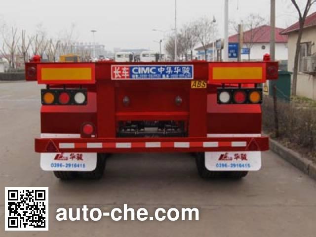 华骏牌ZCZ9403TJZHJB集装箱运输半挂车
