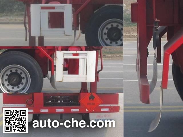 Huajun ZCZ9405TWYHJE dangerous goods tank container skeletal trailer