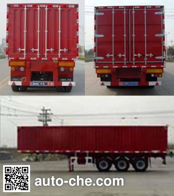 Huajun ZCZ9408XXYA box body van trailer