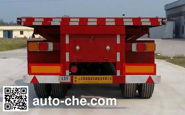 Ruyuan ZDY9402ZZXP flatbed dump trailer
