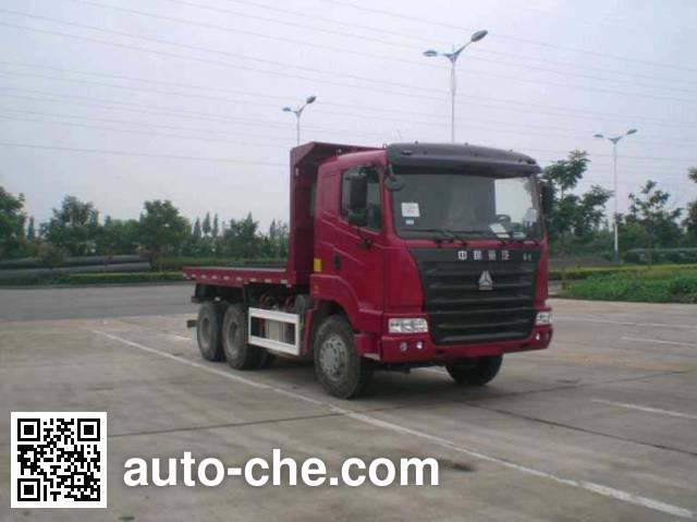 CIMC ZJV3255SDZZ32 flatbed dump truck