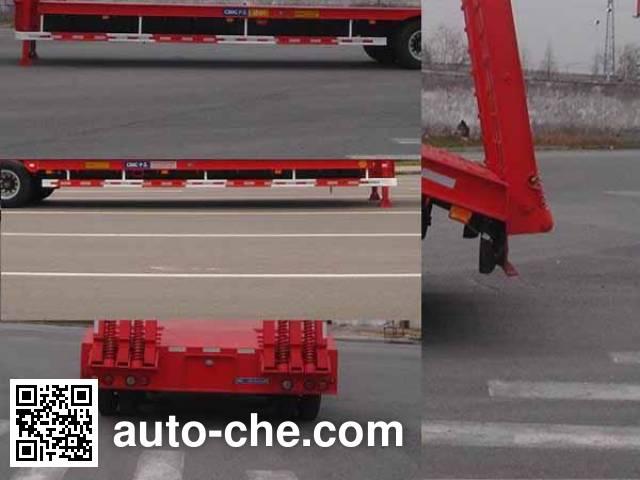 中集牌ZJV9350TDPTHA低平板半挂车