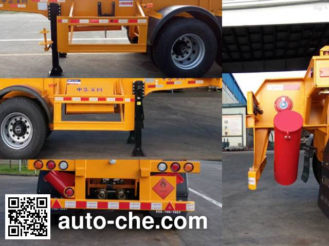 CIMC ZJV9350TWYSZ dangerous goods tank container skeletal trailer