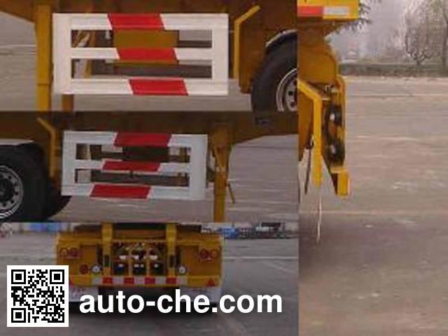 中集牌ZJV9350ZZXTH平板自卸半挂车