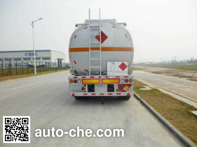 CIMC ZJV9351GRYSZ flammable liquid tank trailer