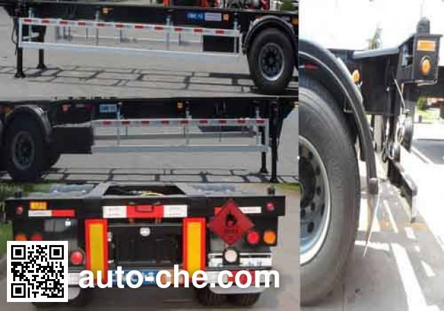 CIMC ZJV9350TWYQDA dangerous goods tank container skeletal trailer