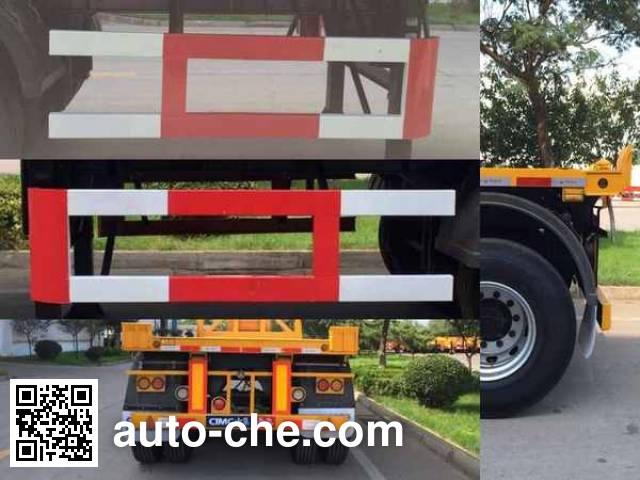 中集牌ZJV9356ZZXPQD平板自卸半挂车