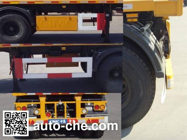 中集牌ZJV9356ZZXQD平板自卸半挂车