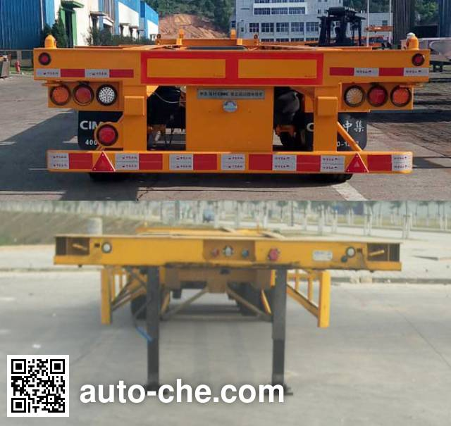 CIMC ZJV9370TJZ container transport trailer
