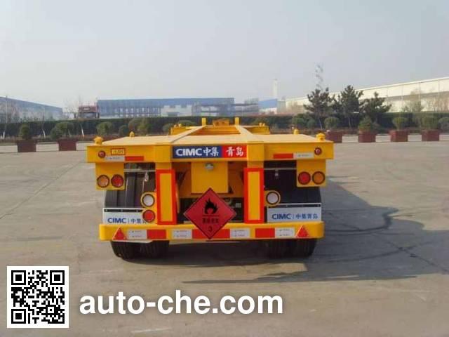 CIMC ZJV9400TWYQD dangerous goods tank container skeletal trailer