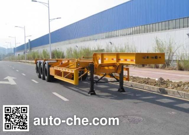 CIMC ZJV9400TWYSZ dangerous goods tank container skeletal trailer