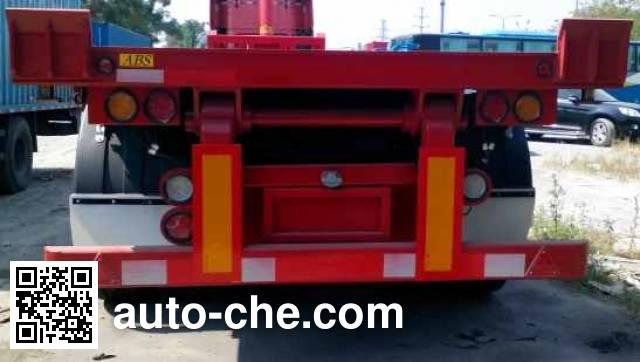 中集牌ZJV9400ZZXPQD平板自卸半挂车
