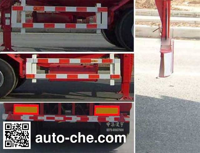 CIMC ZJV9401GFLLYA medium density bulk powder transport trailer