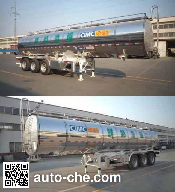 CIMC ZJV9401GYSTH liquid food transport tank trailer