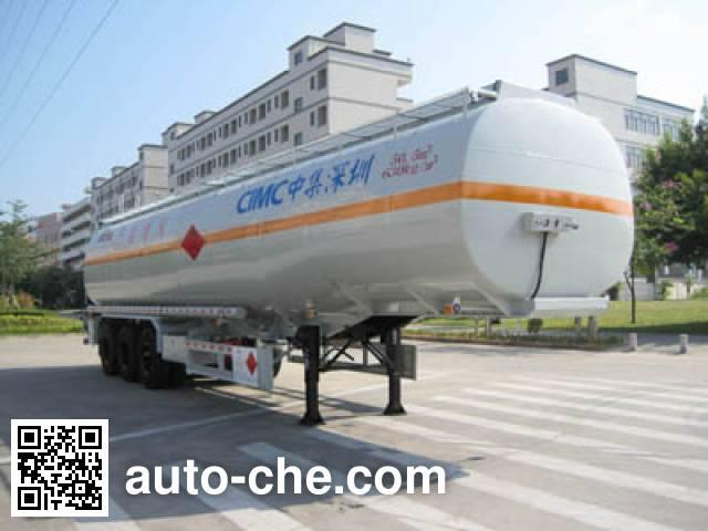 CIMC ZJV9403GRYSZ flammable liquid tank trailer