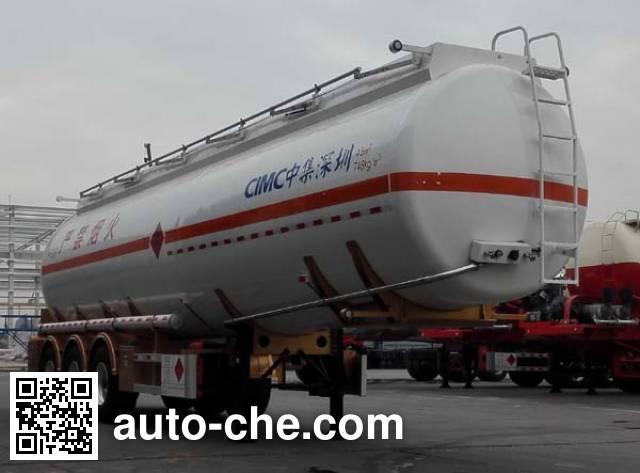 CIMC ZJV9403GRYSZA flammable liquid tank trailer