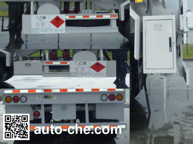 CIMC ZJV9406GRYSZ flammable liquid tank trailer