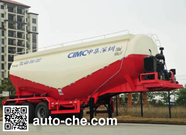 CIMC ZJV9407GFLSZ medium density bulk powder transport trailer