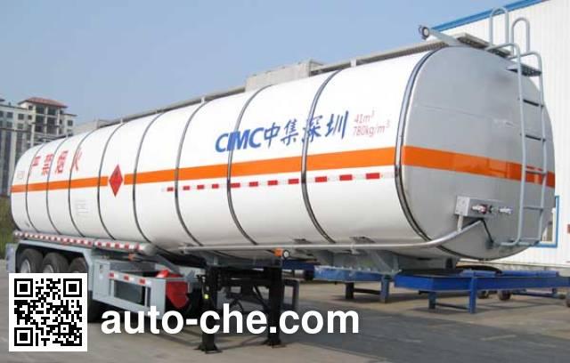 CIMC ZJV9407GRYSZ flammable liquid tank trailer