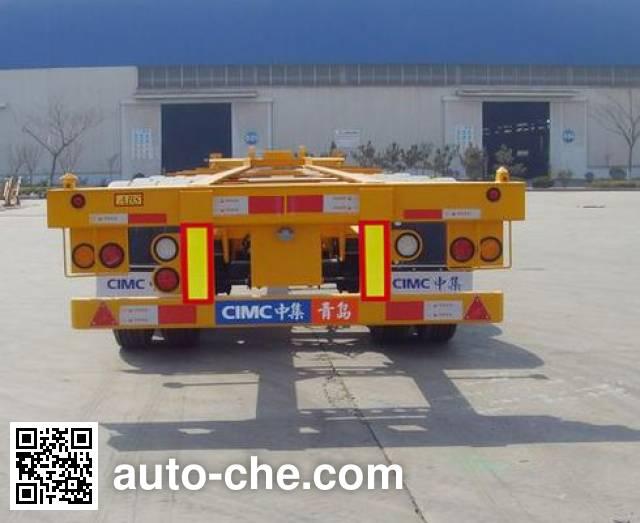中集牌ZJV9367TJZ集装箱运输半挂车