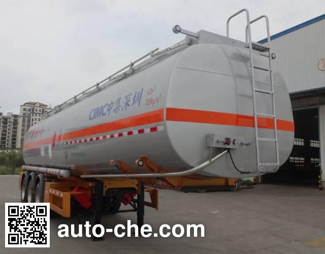 CIMC ZJV9408GRYSZA flammable liquid tank trailer