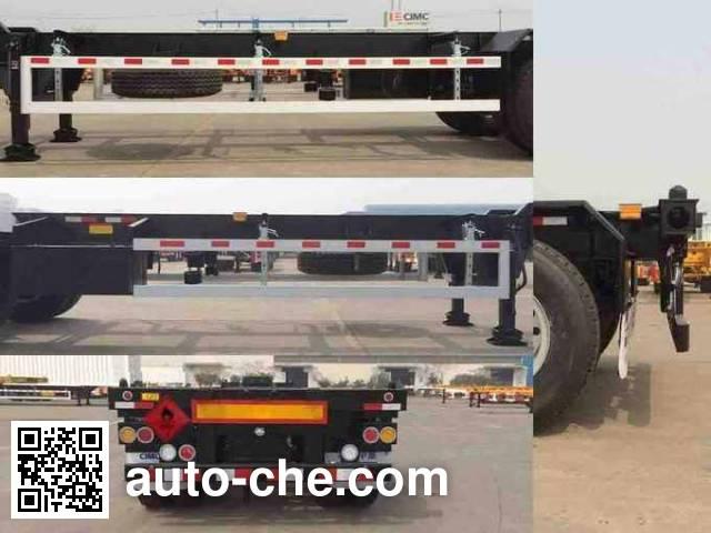 CIMC ZJV9401TWYQDA dangerous goods tank container skeletal trailer