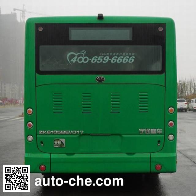 宇通牌ZK6105BEVG17纯电动城市客车